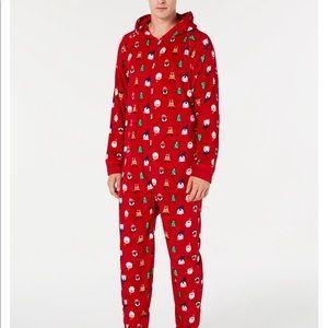 Santa Holiday hooded pajamas